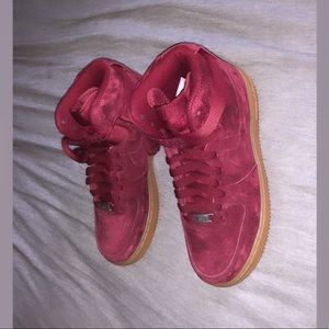 Brand new suede Nike Air Force 1